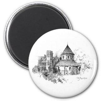 The Round Church 6 Cm Round Magnet