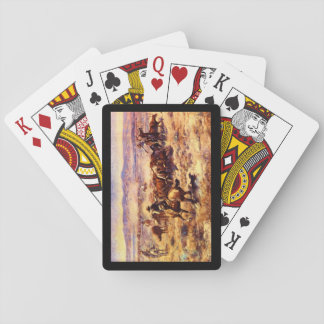 The Roundup', Charles M. Russell_Art of America Playing Cards