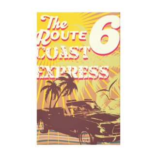 the route coast stretched canvas prints