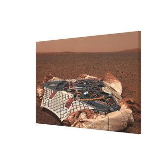 The rover s landing site canvas prints