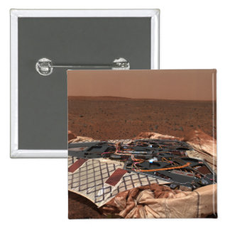 The rover's landing site 15 cm square badge