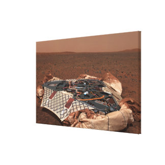 The rover's landing site gallery wrap canvas