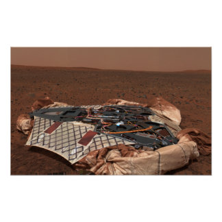 The rover's landing site poster
