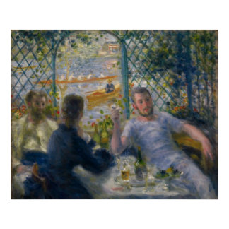 The Rower's Lunch by Pierre-Auguste Renoir Poster