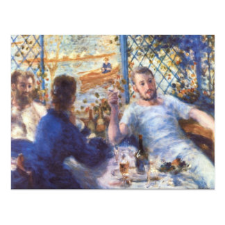 The Rowers Lunch by Pierre Renoir Postcard