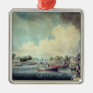 The Rowing Match at Richmond Christmas Ornament