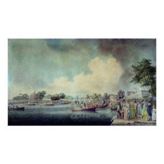 The Rowing Match at Richmond Poster