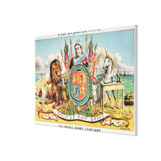 The Royal Arms Jubilant Canvas Print