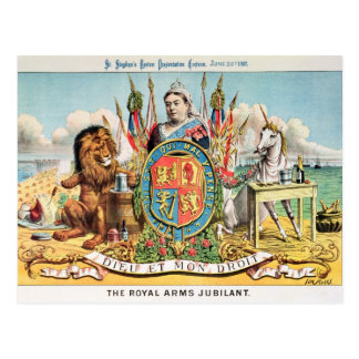 The Royal Arms Jubilant Postcard