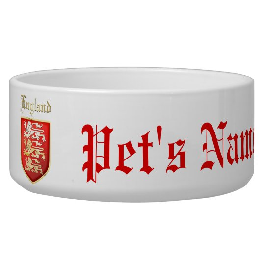 The Royal Arms of England Pet Water Bowls