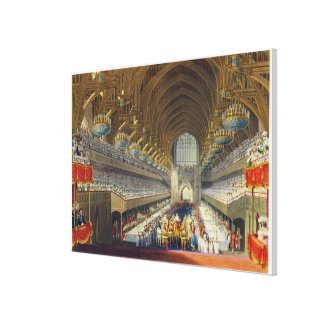 The Royal Banquet, First Course, from an album cel Canvas Prints