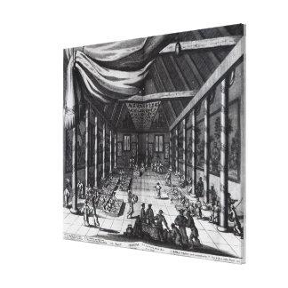 The Royal Banquet illustration Canvas Prints