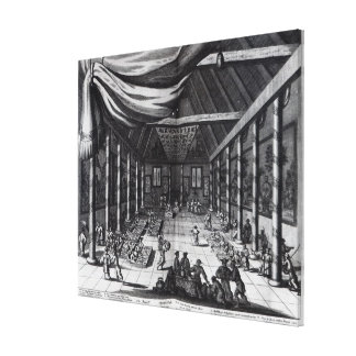 The Royal Banquet, illustration Gallery Wrapped Canvas