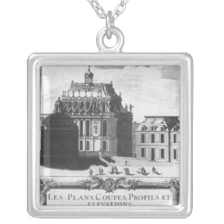 The Royal Chapel, illustration from 'Les Plans Silver Plated Necklace