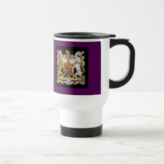 The Royal Coat of Arms United Kingdom Stainless Steel Travel Mug