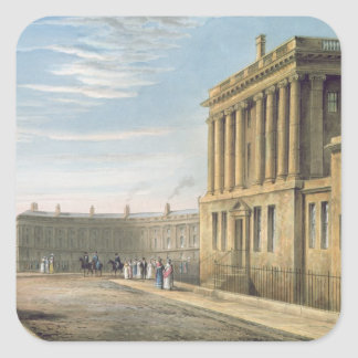 The Royal Crescent, Bath 1820 Square Sticker