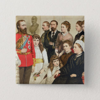 The Royal Family, 1880 15 Cm Square Badge