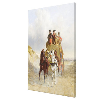 The Royal Mail Coach on the Road, 1841 (oil on pan Canvas Print