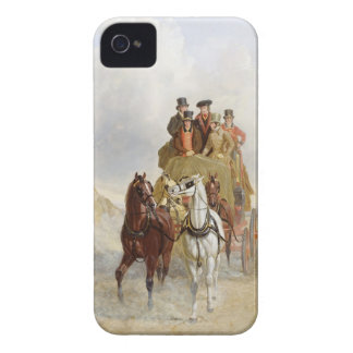 The Royal Mail Coach on the Road, 1841 (oil on pan iPhone 4 Case-Mate Cases