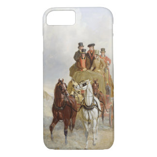 The Royal Mail Coach on the Road, 1841 (oil on pan iPhone 7 Case