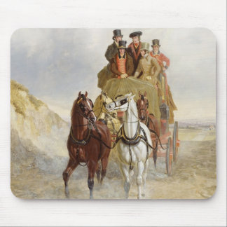 The Royal Mail Coach on the Road, 1841 (oil on pan Mouse Mat