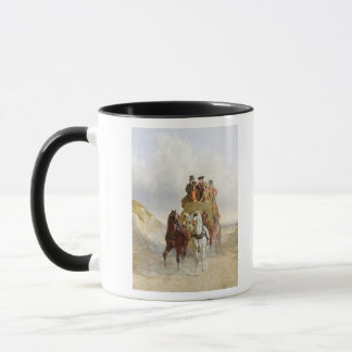 The Royal Mail Coach on the Road, 1841 (oil on pan Mug