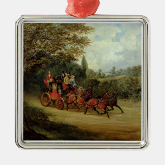 The Royal Mail Coach with Passengers (oil on canva Christmas Ornament