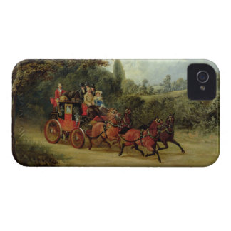 The Royal Mail Coach with Passengers (oil on canva iPhone 4 Case-Mate Case