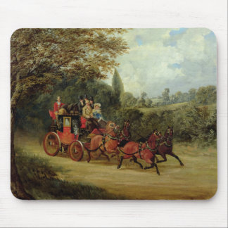 The Royal Mail Coach with Passengers (oil on canva Mouse Mat
