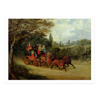 The Royal Mail Coach with Passengers (oil on canva Postcard