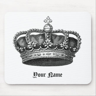 The Royal Me, Victorian Crown Mouse Pad, w/Name Mouse Mat