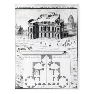 The Royal Observatory in Paris, 1741 Postcard