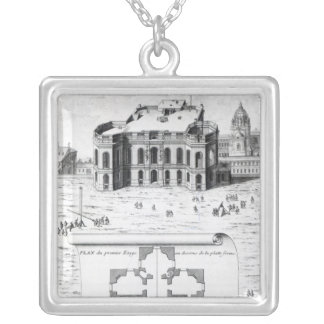 The Royal Observatory in Paris, 1741 Silver Plated Necklace