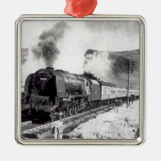 The Royal Scot, intercity locomotive Silver-Colored Square Decoration
