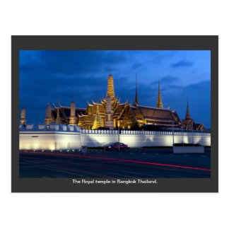 The Royal temple in Bangkok Thailand. Postcard