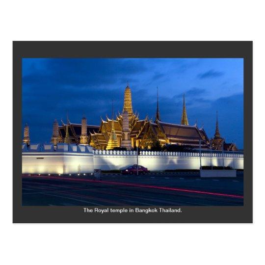 The Royal temple in Bangkok Thailand. Postcard