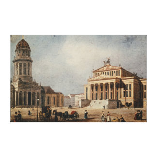 The Royal Theatre and the New Church, 1833 Canvas Print