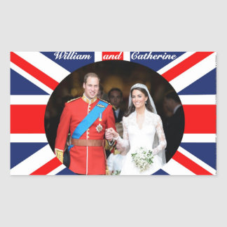The Royal Wedding 14 Rectangular Sticker