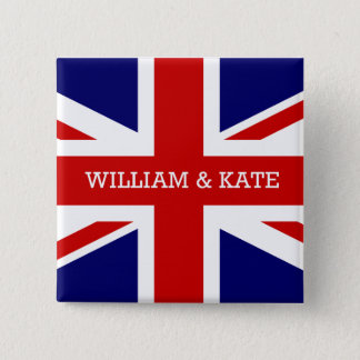 The Royal Wedding - William & Kate 15 Cm Square Badge