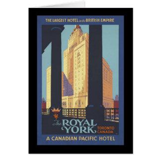 The Royal York Toronto Canada Card