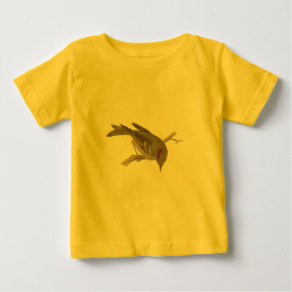The Ruby-crowned Kinglet	(Regulus calendula) Baby T-Shirt