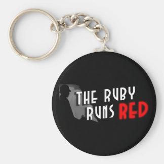 The Ruby Runs Red Logo Keychain