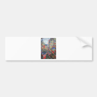 The Rue Montargueil with Flags by Claude Monet Bumper Sticker