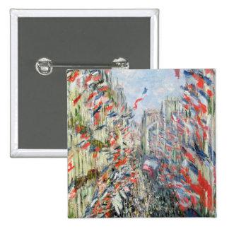The Rue Montorgueil, Paris 15 Cm Square Badge