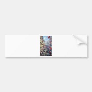 The Rue Montorgueil, Paris by Claude Monet Bumper Sticker
