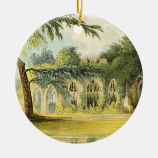 The Ruins, Frogmore, 1828 (colour litho) Christmas Ornament