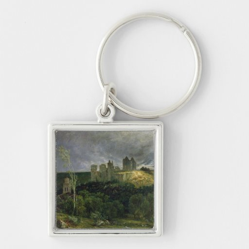 The Ruins of Chateau de Pierrefonds, 1861 Keychain