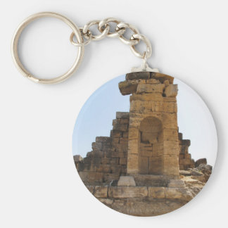 The ruins of Hierapolis Basic Round Button Key Ring