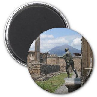 The Ruins of Pompeii 6 Cm Round Magnet