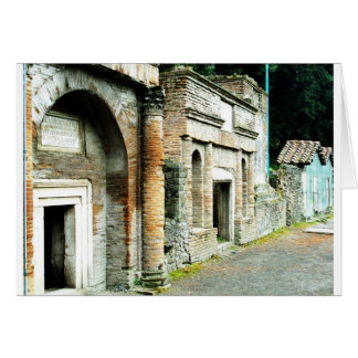 The Ruins of Pompeii - marketplace with temples Card